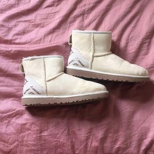 New White UGG mini boots